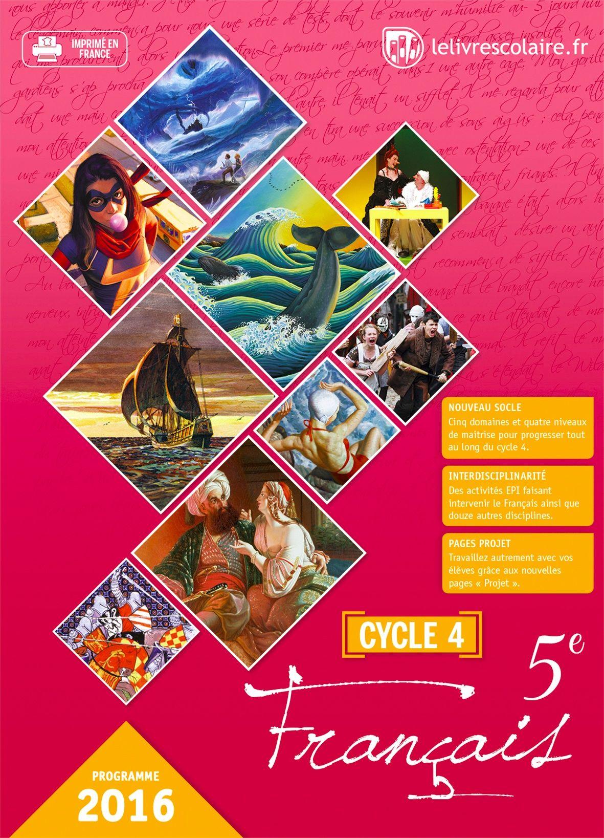 Couverture du manuel scolaire : Français 5e