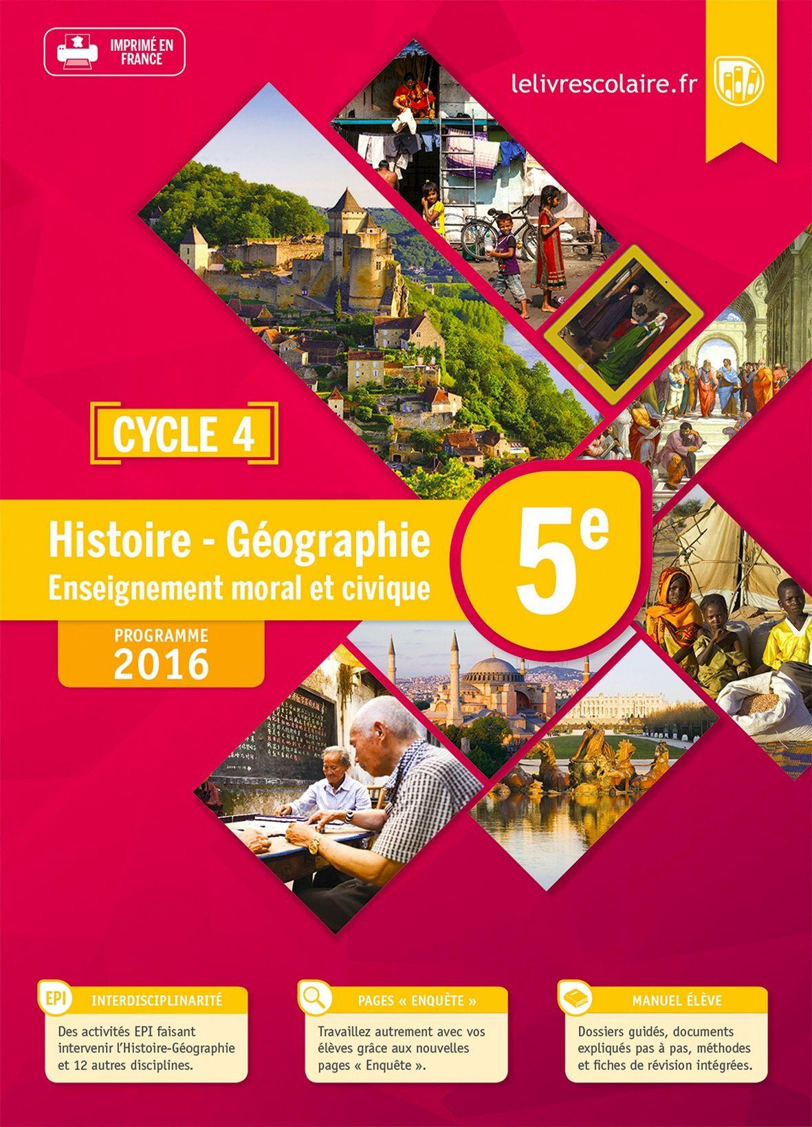 Communauté du manuel Histoire-Géographie 5e 2016