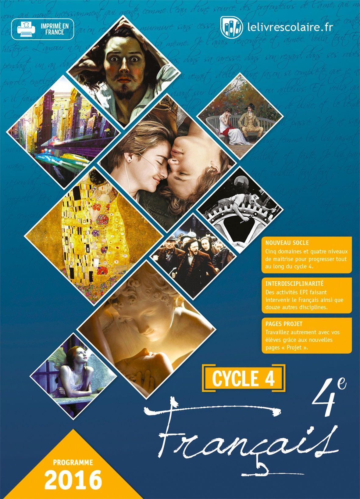 Couverture du manuel scolaire : Français 4e