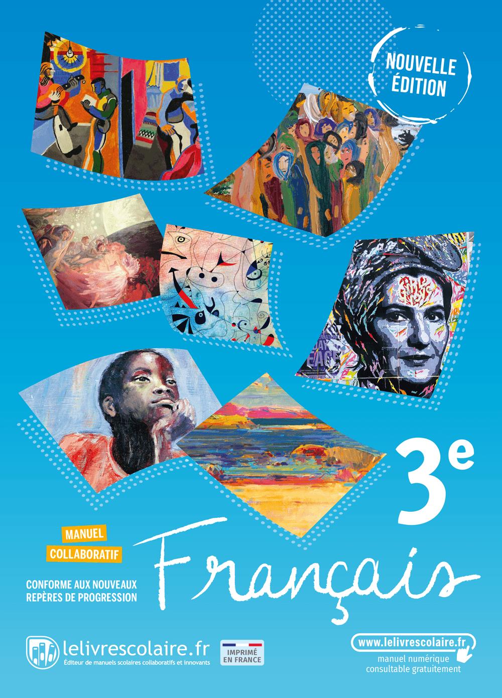Couverture du manuel scolaire : Français 3e