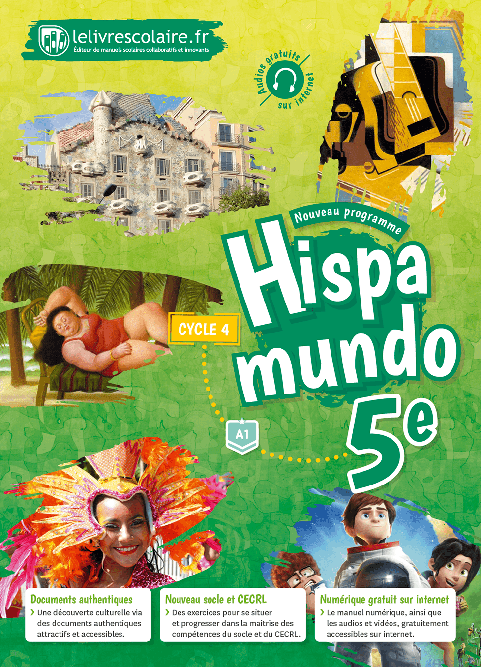 Couverture du manuel scolaire : Espagnol 5e