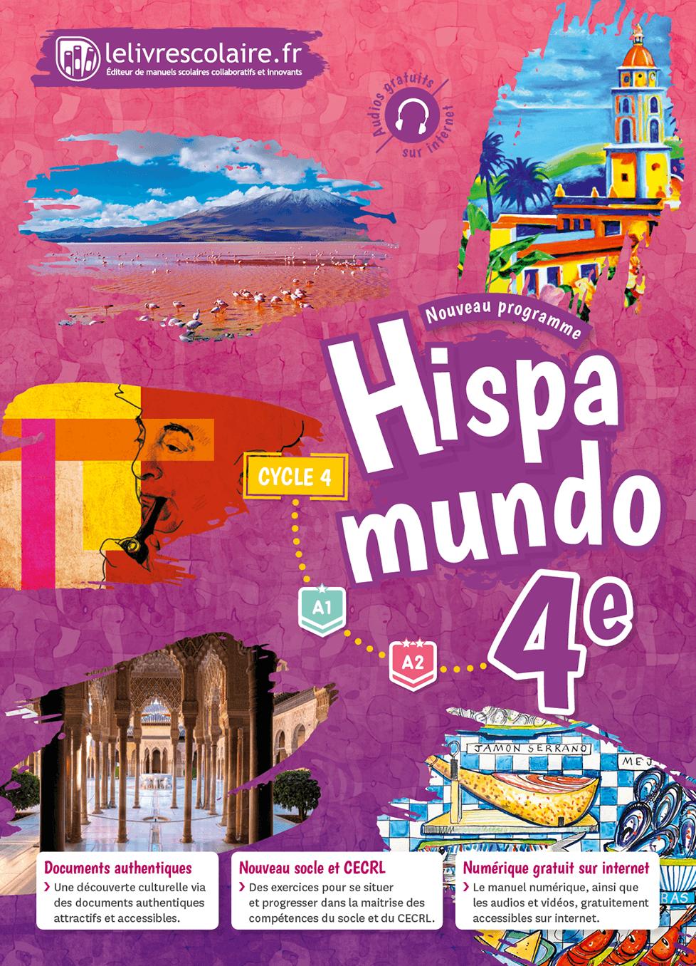 Couverture du manuel scolaire : Espagnol 4e