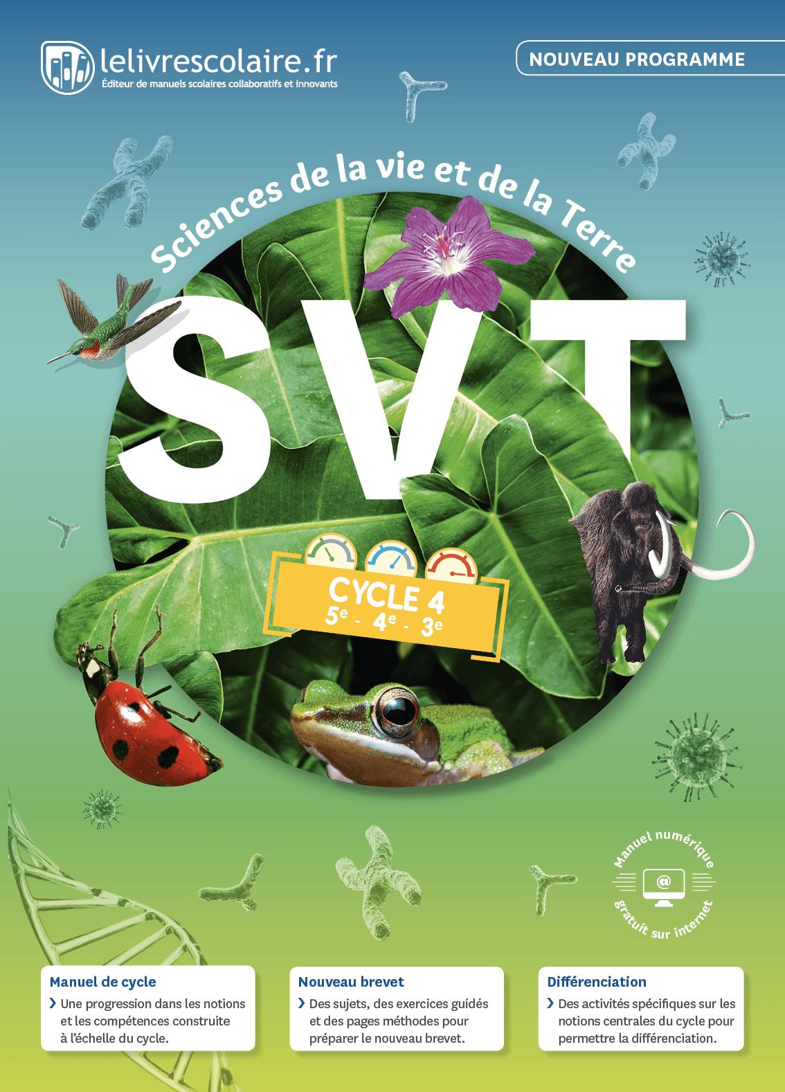 Couverture du manuel scolaire : SVT Cycle 4