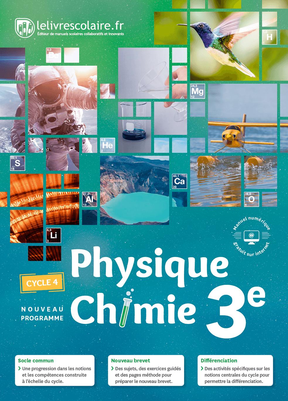 Couverture du manuel scolaire : Physique-Chimie 3e