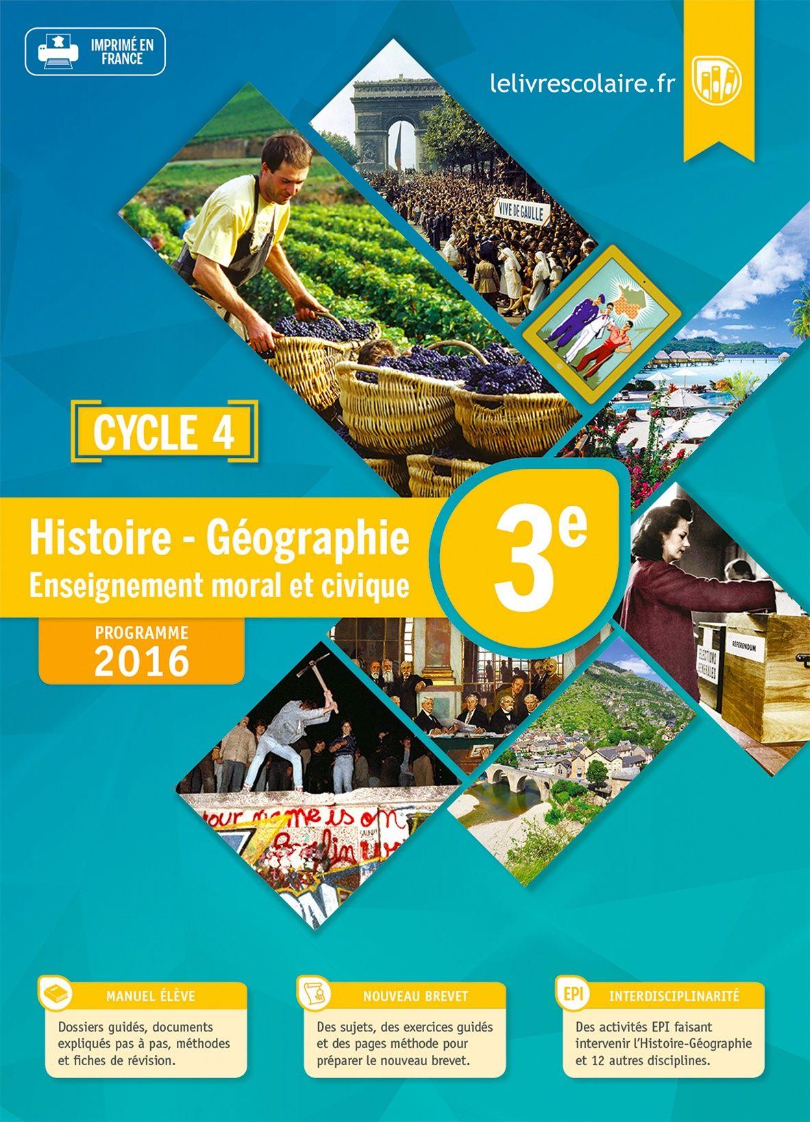 Communauté du manuel Histoire-Géographie 3e 2016