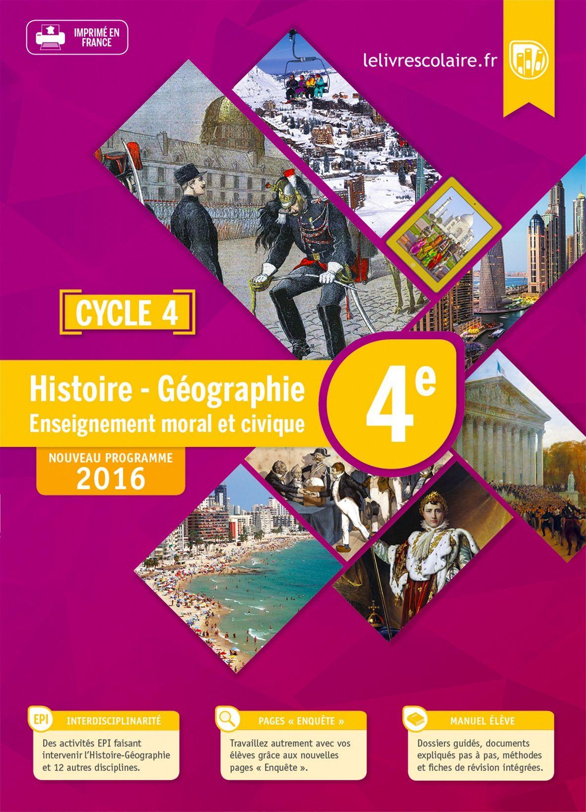 Communauté du manuel Histoire-Géographie 4e 2016
