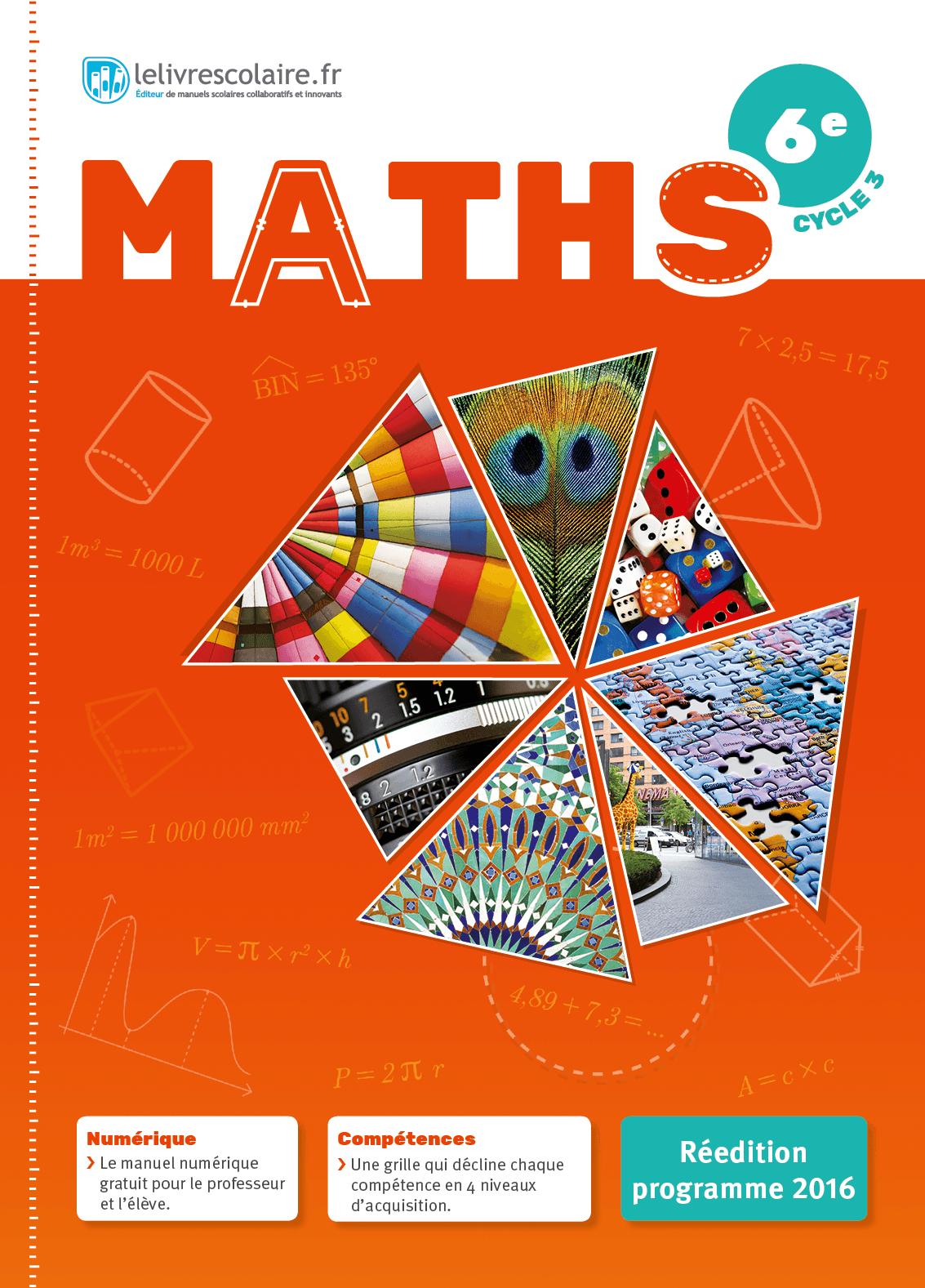 Couverture du manuel scolaire : Mathématiques 6e