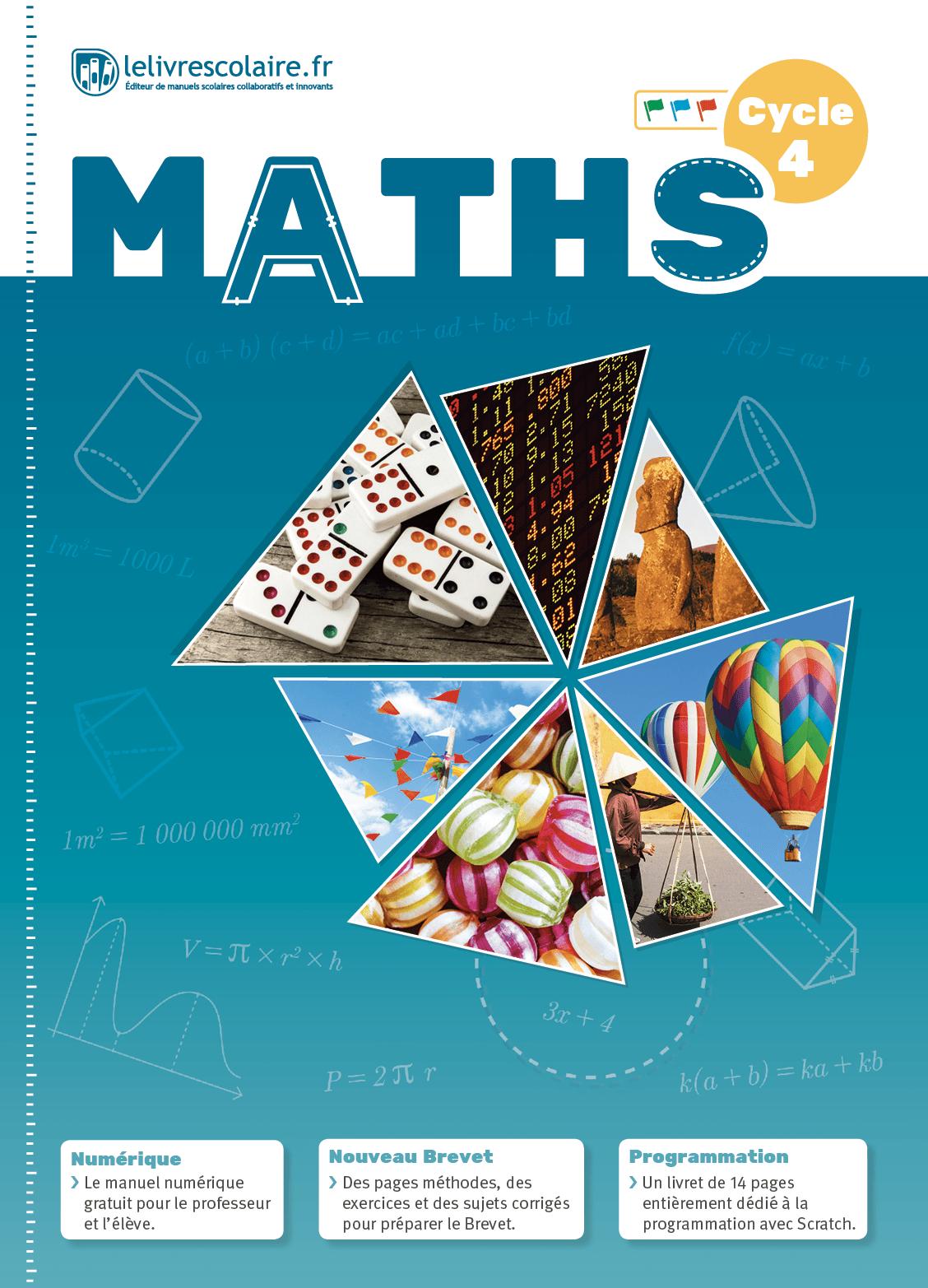 Couverture du manuel scolaire : Mathématiques Cycle 4