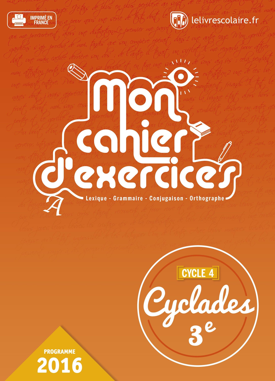 Couverture du manuel scolaire : Français 3e - Cahier d'exercices