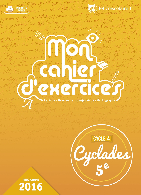 Couverture du manuel scolaire : Français 5e - Cahier d'exercices