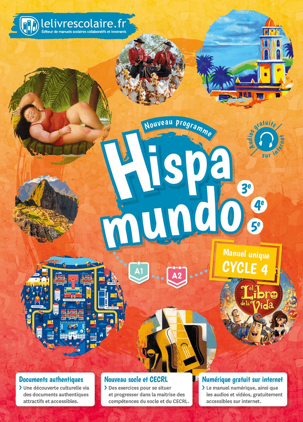 Couverture du manuel scolaire : Espagnol Cycle 4