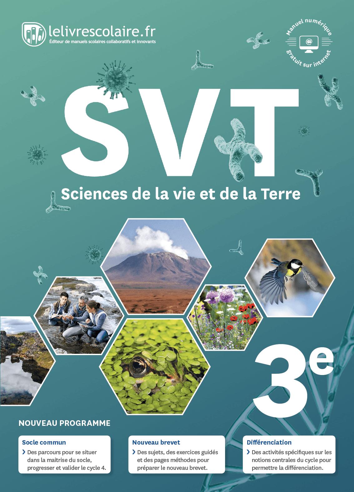 Couverture du manuel scolaire : SVT 3e