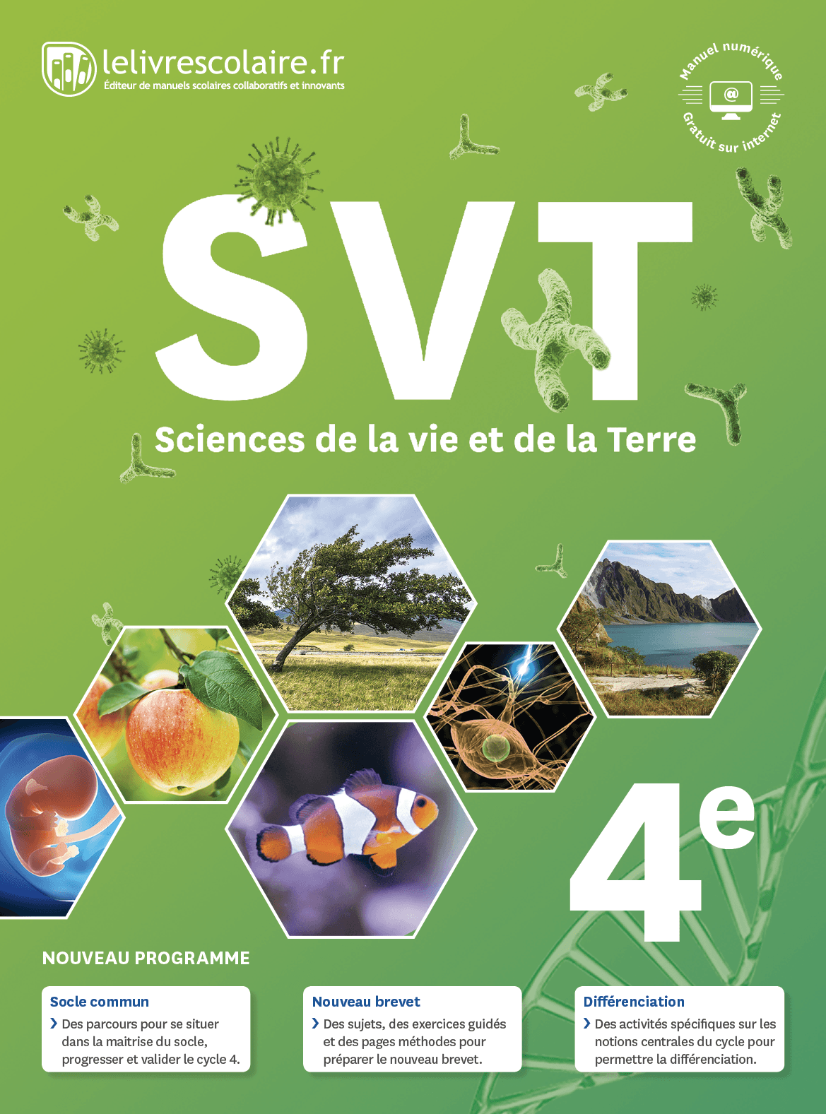 Couverture du manuel scolaire : SVT 4e