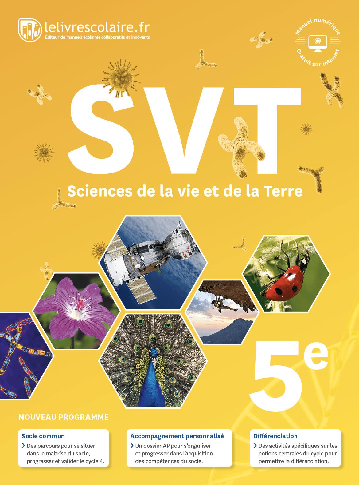 Couverture du manuel scolaire : SVT 5e