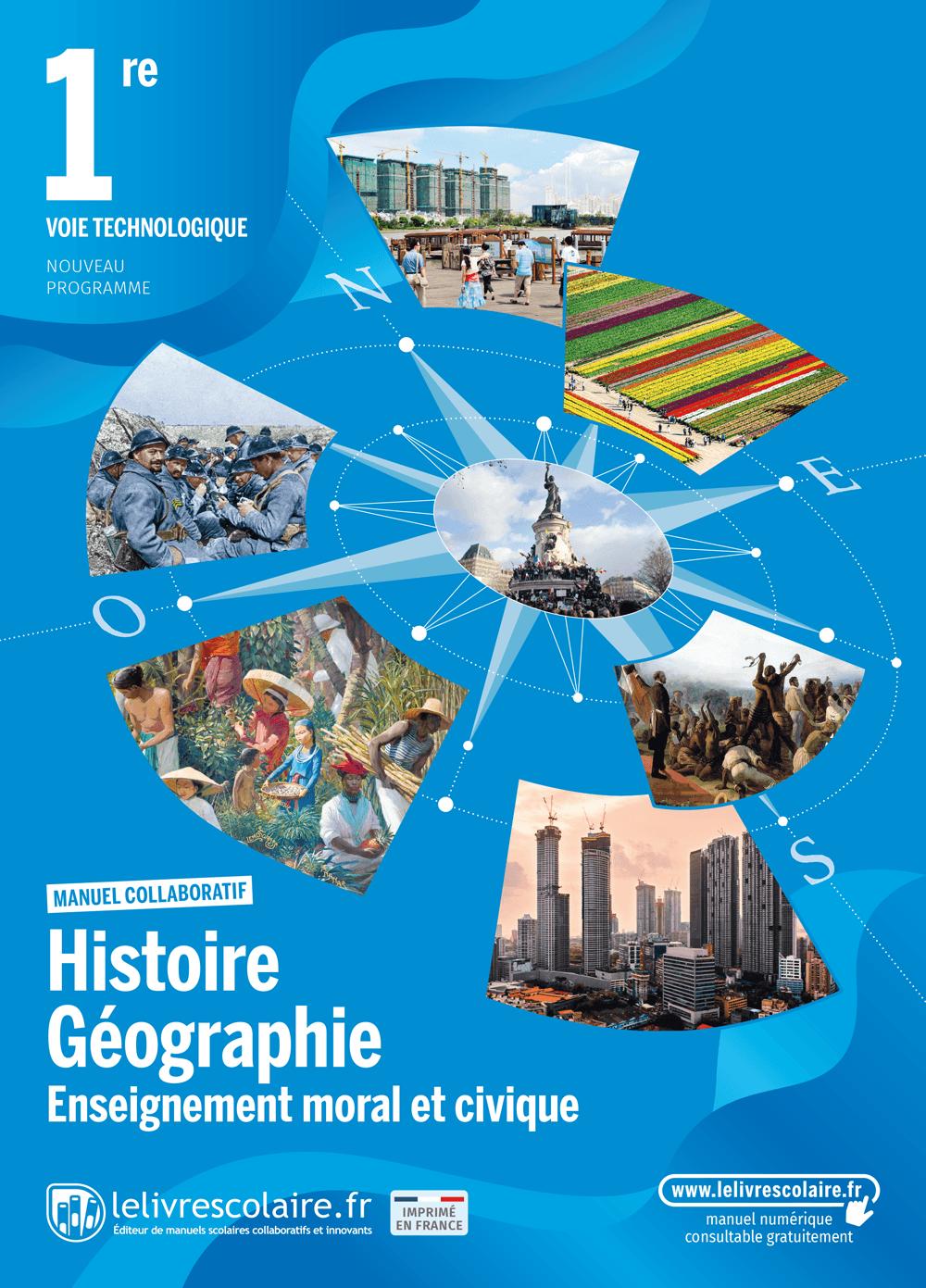 Couverture du manuel scolaire : Histoire-Géographie-EMC - 1re Techno