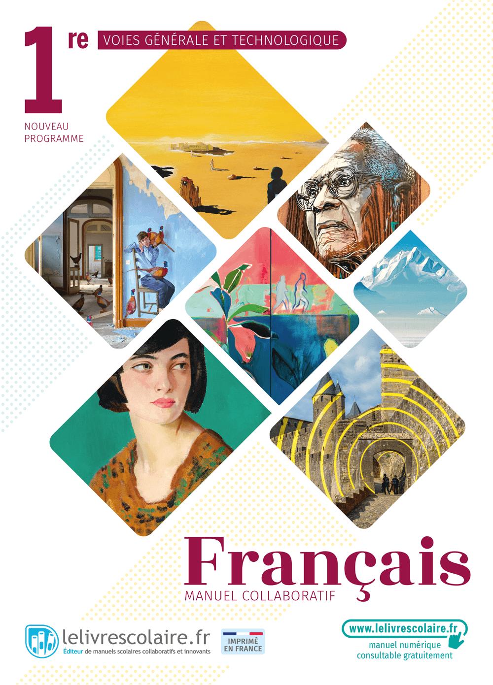 Couverture du manuel scolaire : Français 1re