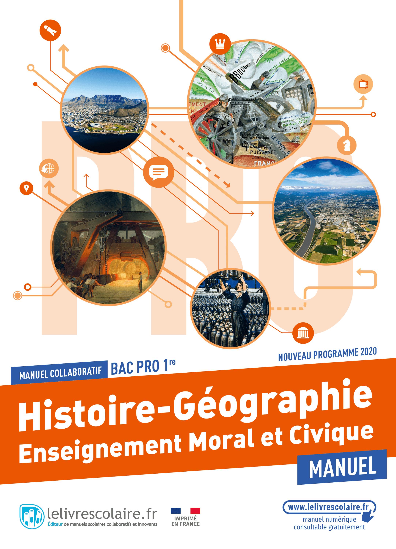 Couverture du manuel scolaire : Histoire-Géographie-EMC 1re Bac Pro