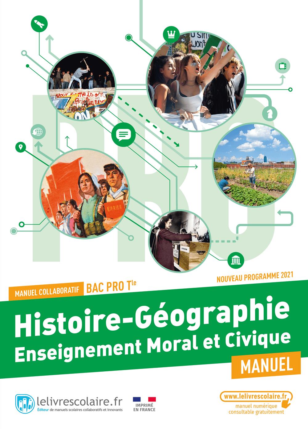 Couverture du manuel scolaire : Histoire-Géographie-EMC Terminale Bac Pro