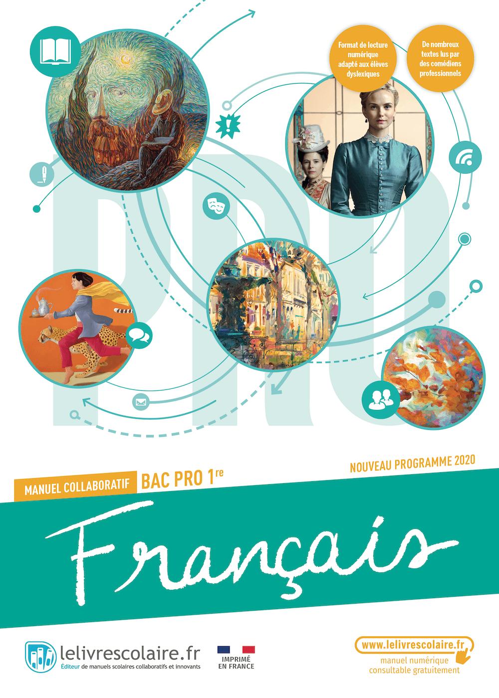 Couverture du manuel scolaire : Français 1re Bac Pro