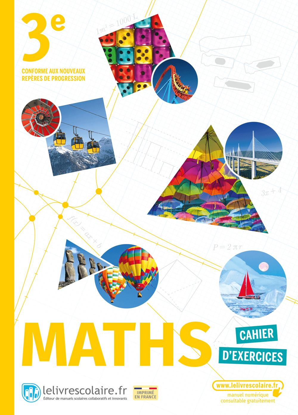 Couverture du manuel scolaire : Mathématiques 3e - Cahier d'exercices