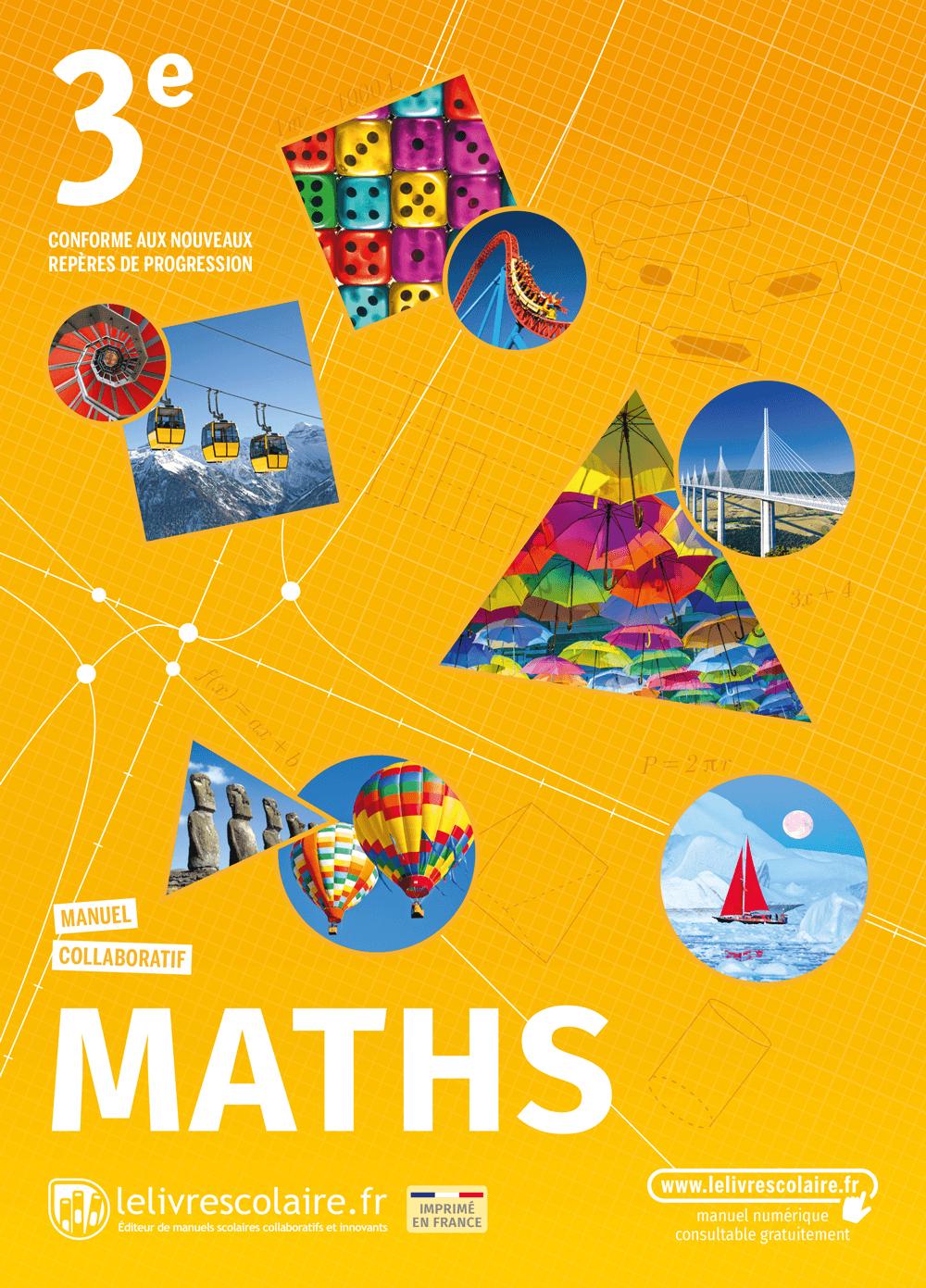 Couverture du manuel scolaire : Mathématiques 3e