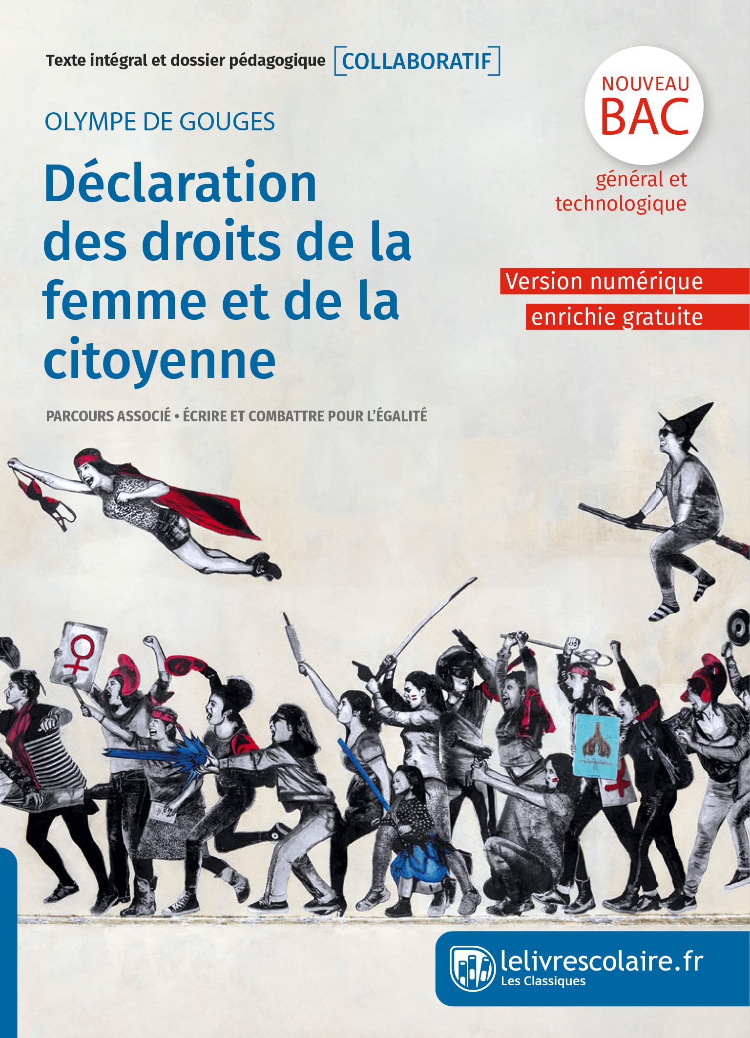 Couverture du manuel scolaire : Olympe de Gouges - Déclaration des droits de la femme et de la citoyenne