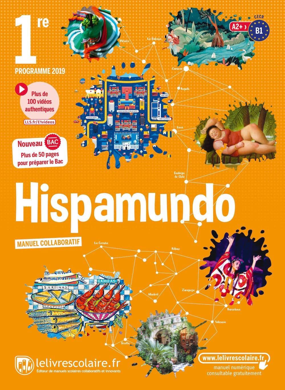 Couverture du manuel scolaire : Espagnol 1re
