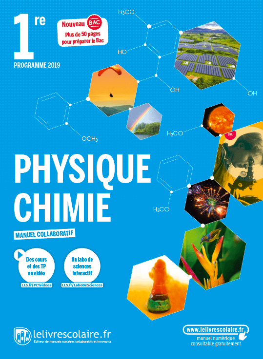 Couverture Physique-Chimie 1re