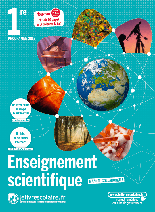 Couverture livre Enseignement scientifique 1re 2019
