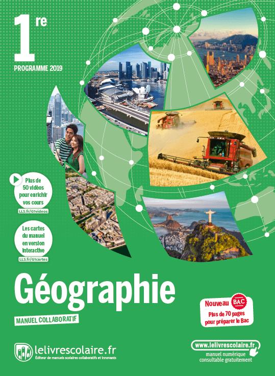 Couverture Géographie 1re