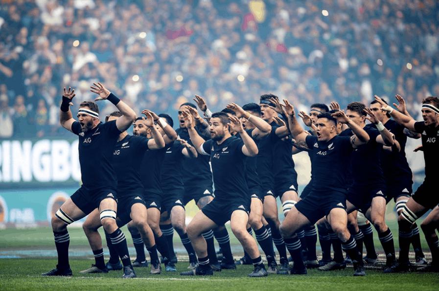 The All Blacks performing the Haka, 2017.