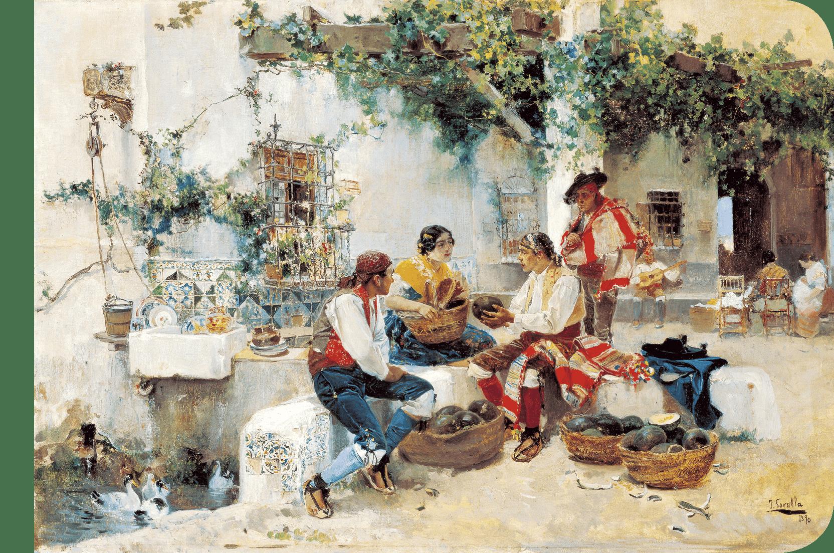 Joaquín Sorolla y Bastida, Vendiendo melones, 1890