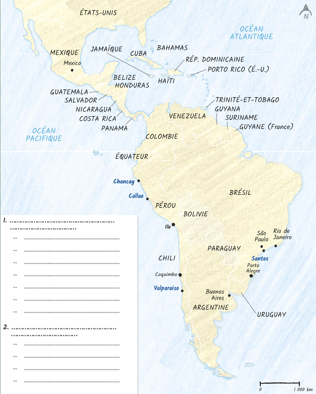 Croquis Amérique latine