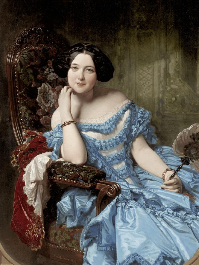 Federico de Madrazo, Amalia de Llano y Dotres, condesa de Vilches, 1853