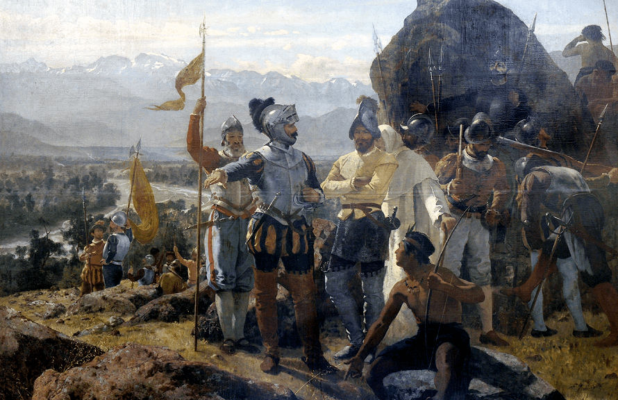 Pedro Lira, Fundación de Santiago, 1888