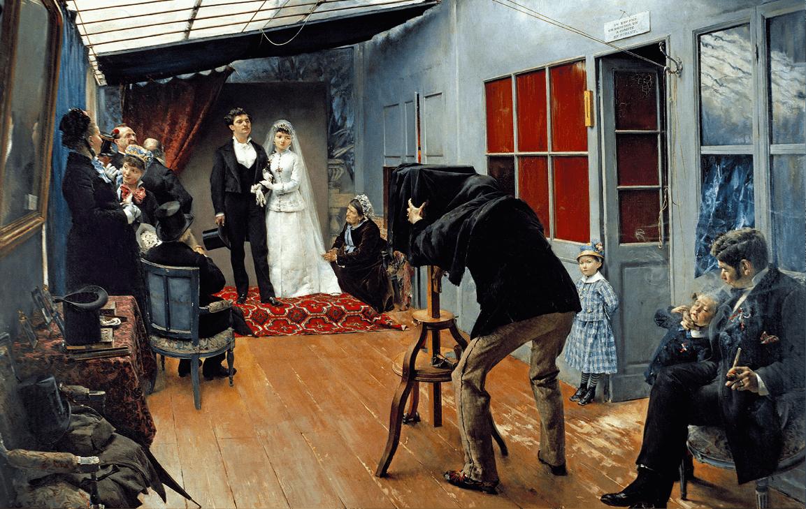 Pascal Adolphe Jean Dagnan-Bouveret, Une noce chez le photographe