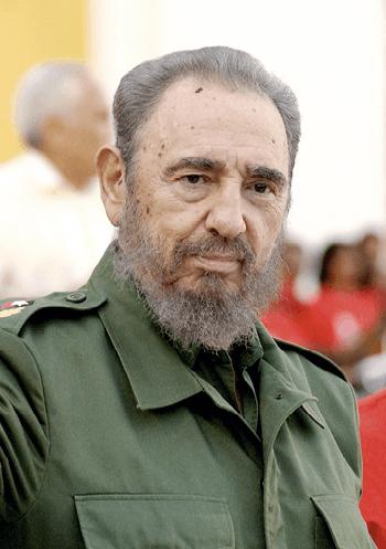 Foto de Fidel Castro durante un discurso en La Habana