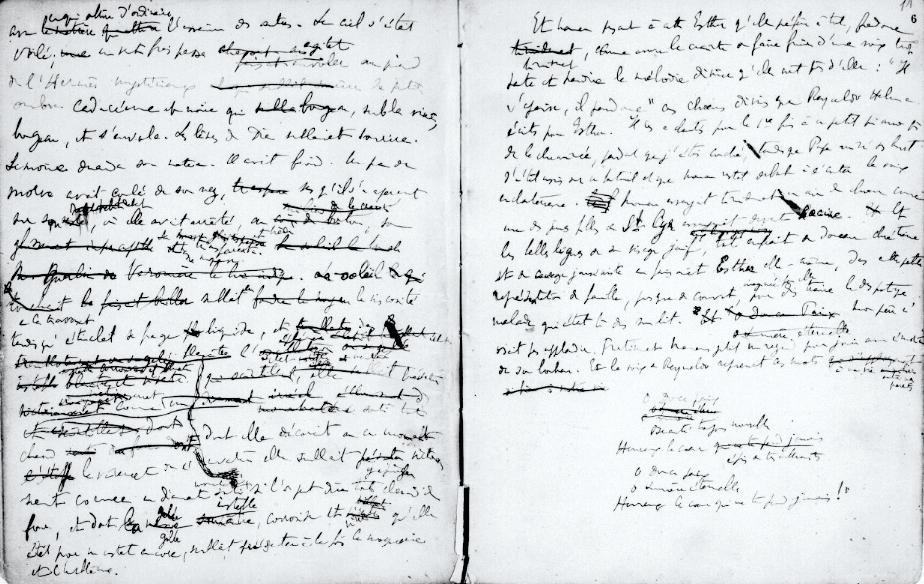 Manuscrit Marcel Proust