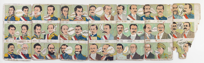uan Javier Salazar, Perú, país del mañana (Proyecto para hacer un mural, cuando tenga el dinero mañana), 1981-1990.