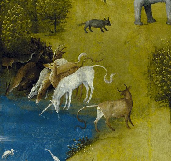 Jérôme Bosch, Le jardin des délices, 1494-1505, détail 1