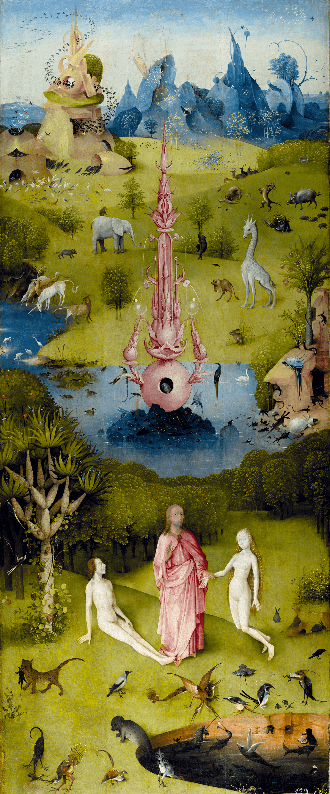 Jérôme Bosch, Le jardin des délices, 1494-1505, Le paradis