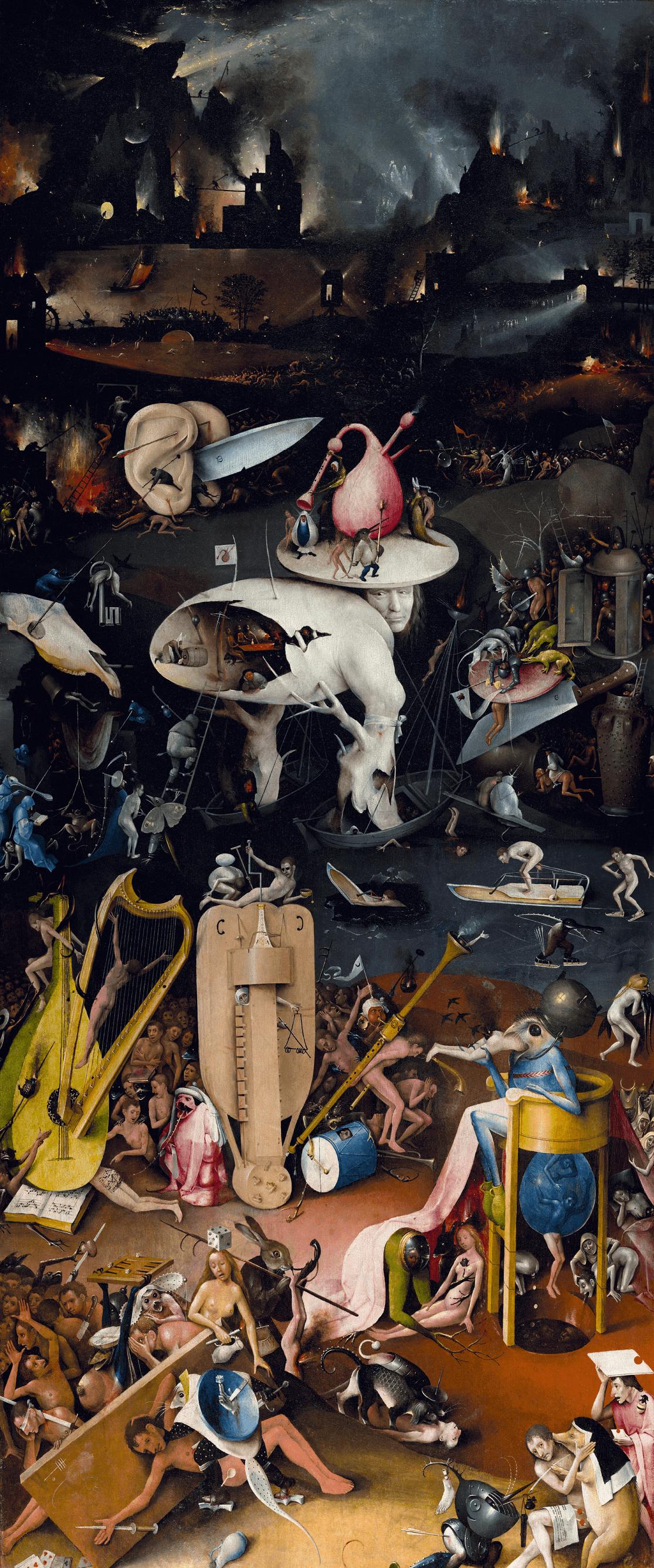 Jérôme Bosch, Le jardin des délices, 1494-1505, L'enfer