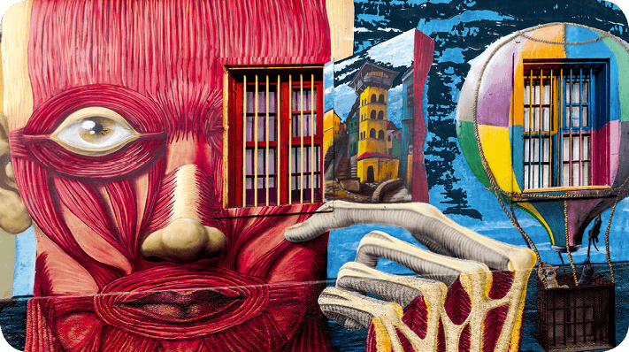 Street art L'écorché