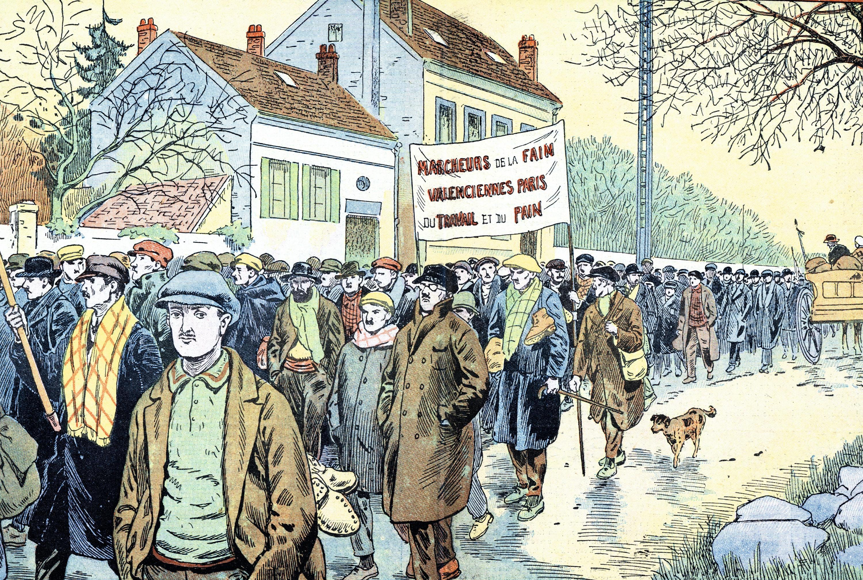 Marche pacifique des mineurs du Nord et du Pas-de-Calais touchés par le chômage, décembre 1933, Le Pèlerin, The Holborn Archive