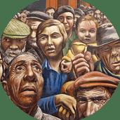 Les conséquences de la crise de 1929 en Amérique latine, peinture Javier Larrea