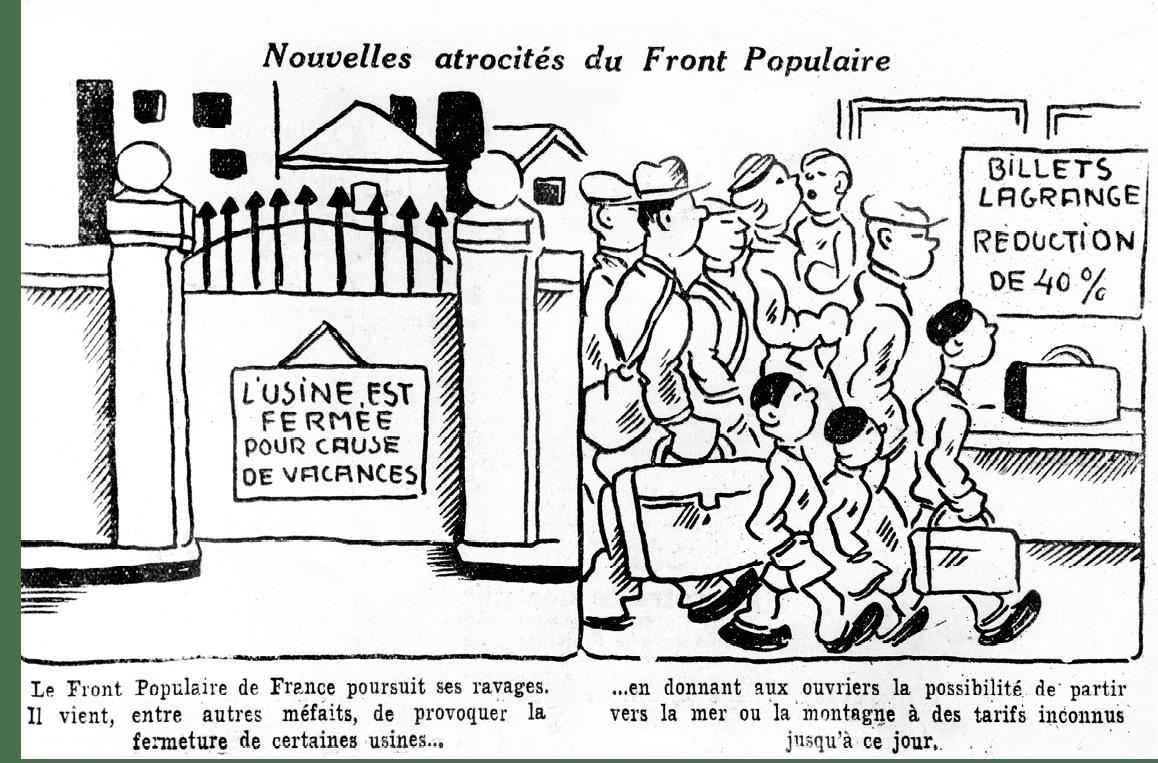 Robert Fuzier, dessin de presse dans le Populaire, 1936.