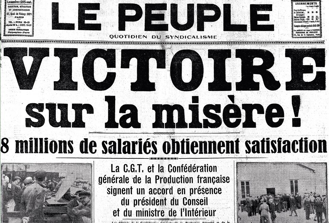 Couverture du Peuple, le 10 juin 1936.