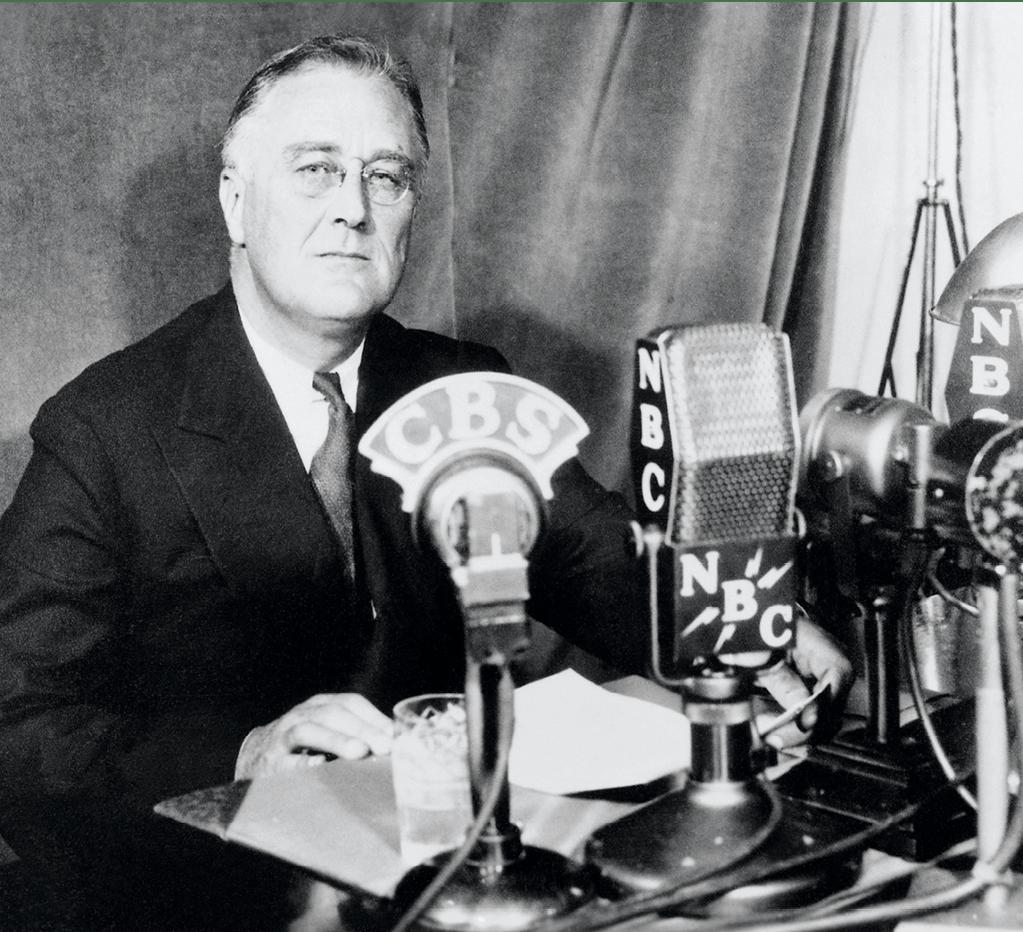 F. D. Roosevelt à la radio