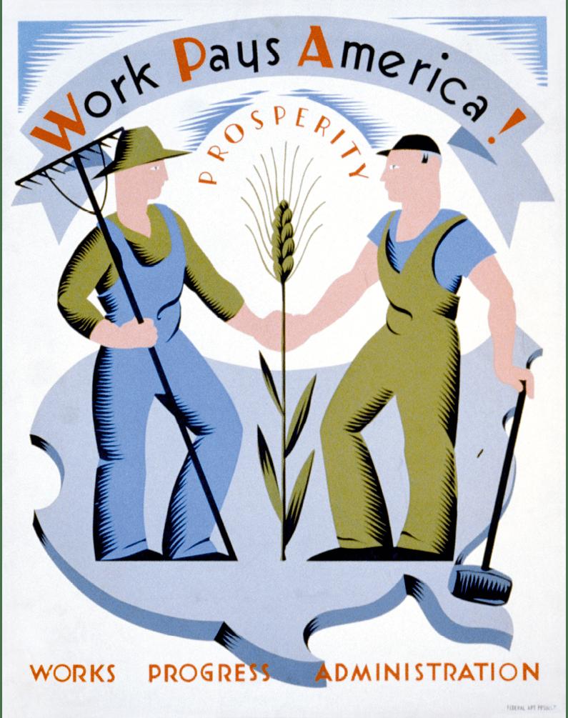 Affiche Work pays america