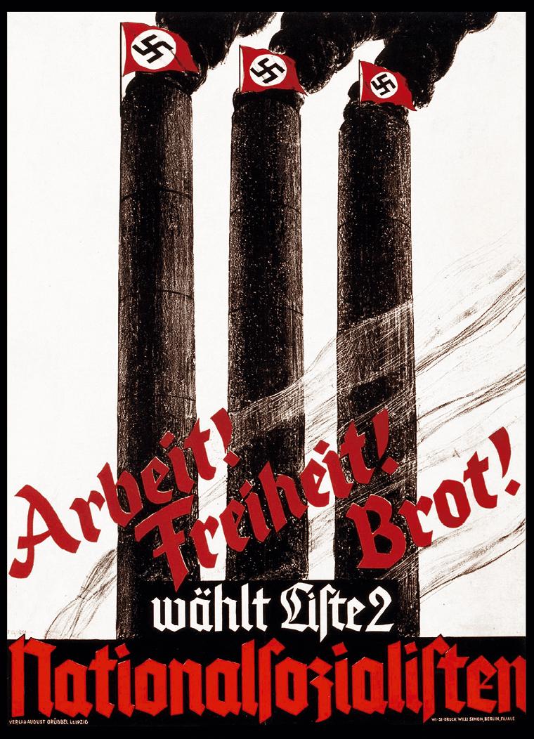 Une affiche de propagande nazie